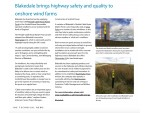Making headlines with our windfarm posts