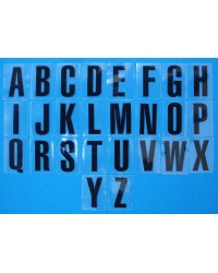 Letters Black A-Z (self-adhesive)