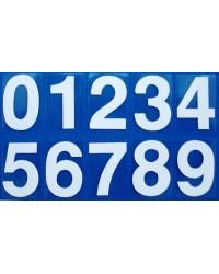 Numerals White 0-9 (self-adhesive)