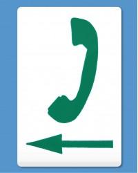 Telephone Symbol Green, Arrow Left (self-adhesive)